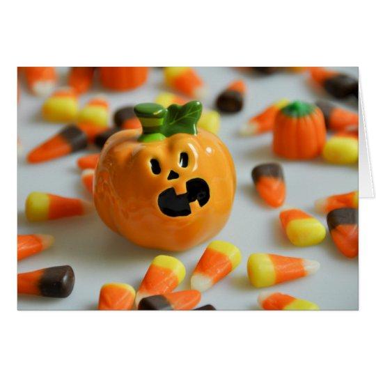 Tarjeta de Halloween de la calabaza