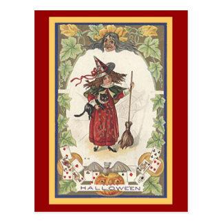 Tarjeta de Halloween de la diversión con franqueo