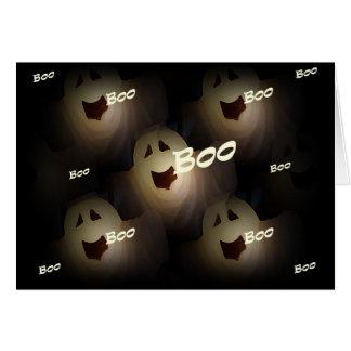 Tarjeta de Halloween del abucheo del fantasma