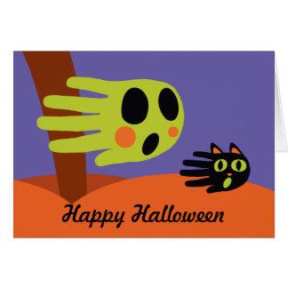 Tarjeta de Halloween del fantasma