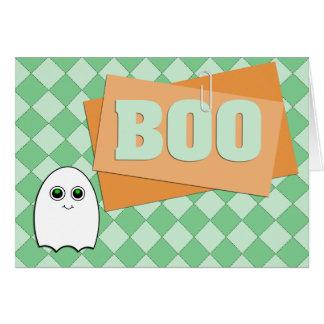 Tarjeta de Halloween del fantasma del abucheo del