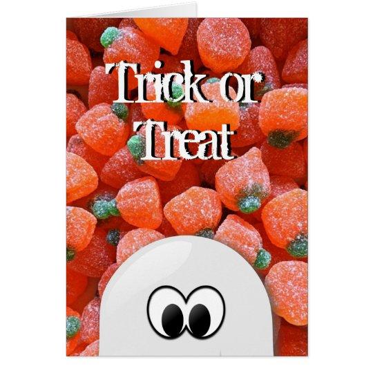 Tarjeta de Halloween del truco o de la invitación