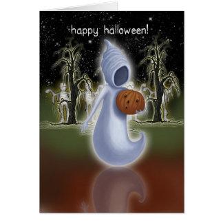 Tarjeta de Halloween - feliz Halloween - fantasma