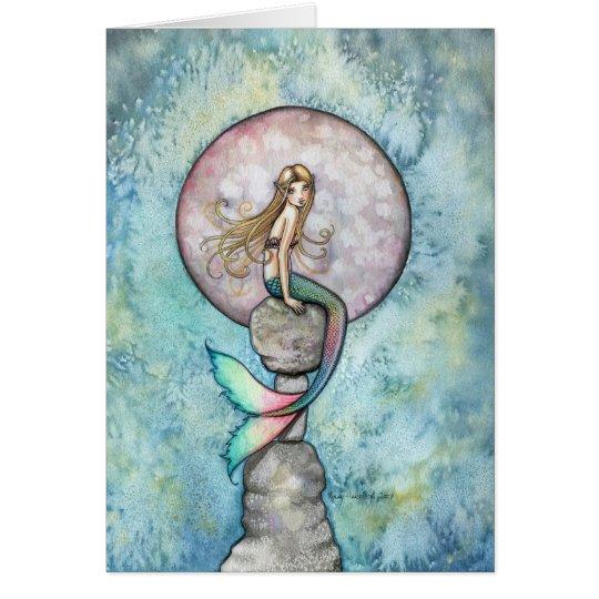Tarjeta de hundimiento de la sirena de la luna por