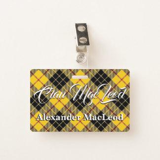 Tarjeta De Identificación Clan MacLeod del tartán de Lewis