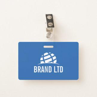 Tarjeta De Identificación Cree su propio logotipo de la empresa de negocios