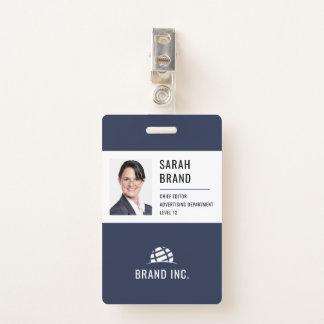 Tarjeta De Identificación Identificación moderna del negocio corporativo
