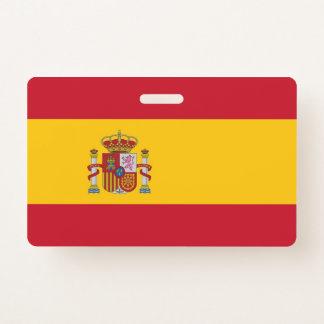 Tarjeta De Identificación Insignia conocida con la bandera de España