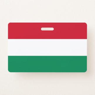 Tarjeta De Identificación Insignia conocida con la bandera de Hungría