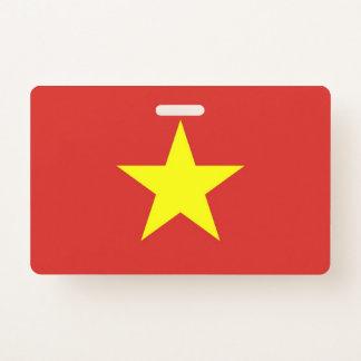 Tarjeta De Identificación Insignia conocida con la bandera de Vietnam