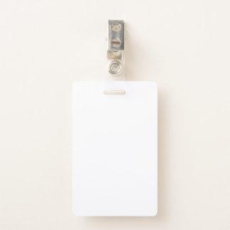 Tarjeta De Identificación Insignia plástica con el clip metálico