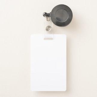 Tarjeta De Identificación Insignia plástica con la insignia retractable