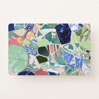 Tarjeta De Identificación Mosaicos de Guell del parque