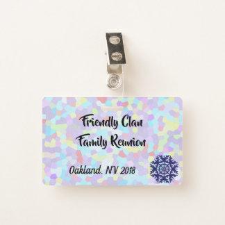 Tarjeta De Identificación Reunión de familia