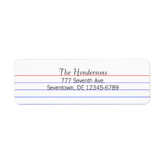 Tarjeta de índice de encargo etiqueta de remitente