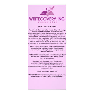 Tarjeta de información de WRITECOVERY