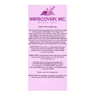 Tarjeta de información de WRITECOVERY Lona Personalizada