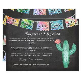 Tarjeta de información mexicana del cactus de la invitación 8,9 x 12,7 cm