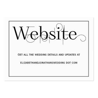Tarjeta de información rizada del Web site del Tarjetas De Visita Grandes