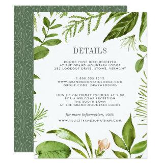 Tarjeta de información salvaje de la huésped del invitación 10,8 x 13,9 cm