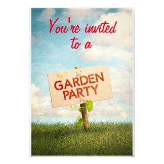 Tarjeta de invitación a un Garden Party