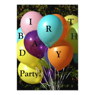 Tarjeta de invitación para party de cumpleaños
