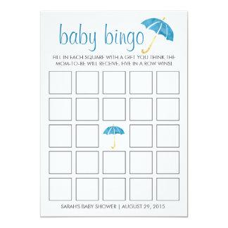 Tarjeta de juego azul del bingo de la fiesta de invitación 12,7 x 17,8 cm