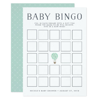 Tarjeta de juego del bingo de la fiesta de