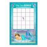 Tarjeta de juego del bingo de la fiesta de folleto 14 x 21,6 cm