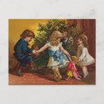 Tarjeta de juegos colorida del navidad del vintage