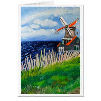 Tarjeta De Kat Windmill: Holanda