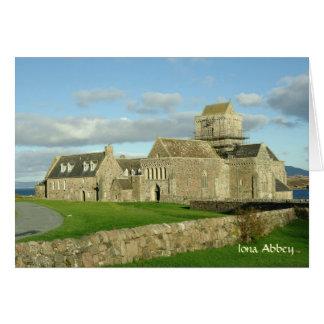 Tarjeta de la abadía de Iona