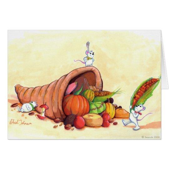 Tarjeta de la acción de gracias de los ratones
