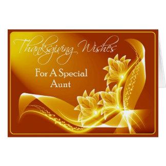 Tarjeta de la acción de gracias para la tía