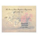 tarjeta de la aceptación del boda, flores de Van Comunicado Personal