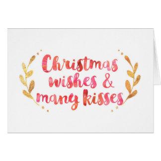Tarjeta de la acuarela de los deseos del navidad