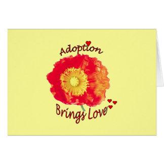 Tarjeta de la adopción