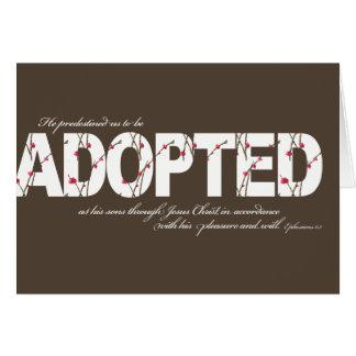 Tarjeta de la adopción del 1:5 de Ephesians