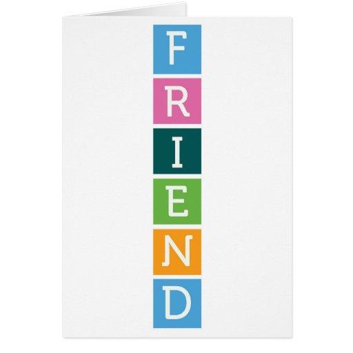 Tarjeta de la amistad