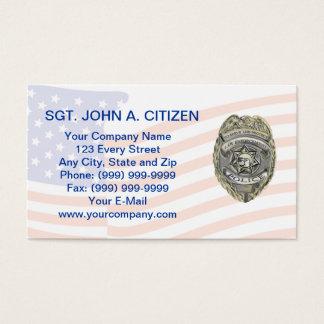 tarjeta de la aplicación de ley del ayudante del