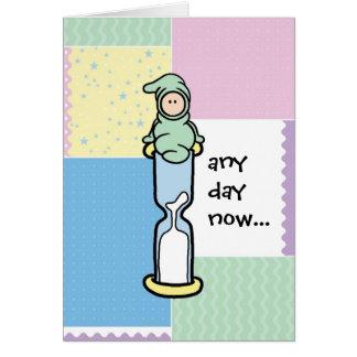 Tarjeta de la ayuda del embarazo - cualquier día