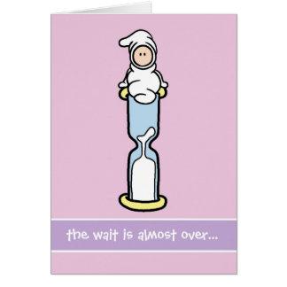Tarjeta de la ayuda del embarazo - la espera ha ca