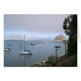 Tarjeta De la bahía hermosa de Morro