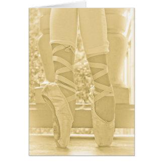 Tarjeta de la bailarina