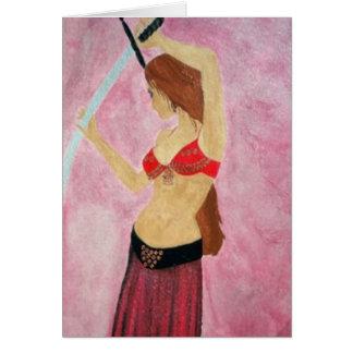 Tarjeta de la bailarina de la danza del vientre