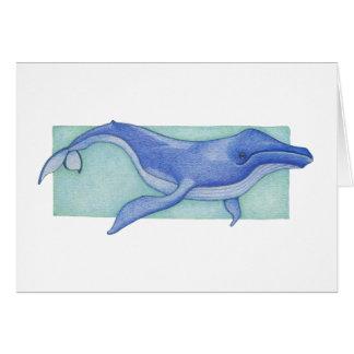Tarjeta de la ballena
