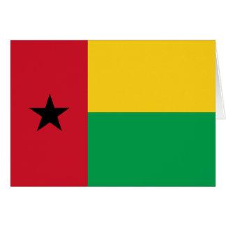 Tarjeta de la bandera de Guinea-Bissau