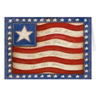 Tarjeta de la bandera de país