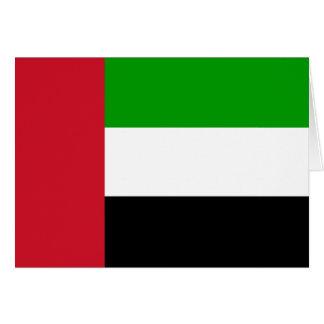 Tarjeta de la bandera de United Arab Emirates