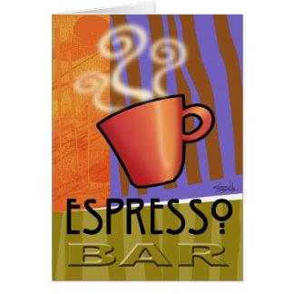 Tarjeta de la barra del café express